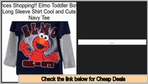 Comparison Shopping Elmo Toddler Boys Long Sleeve Shirt Cool and Cute Navy Tee