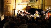 """Edna Stern-Piano-Quatuor Voce : """"Les grands quintettes romantiques""""-Schumann-Schubert à l' Eglise St Luc de Ménerbes via """"Les Musicales du Luberon"""" le 25.07.2014 (Extrait)"""