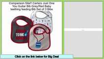 Top Rated Carters Just One You Guitar Bib Grey/Red Baby teething feeding Bib Set of 3 Bibs