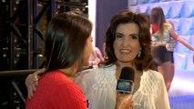 Fátima Bernardes conta detalhes sobre o cabelo nos bastidores