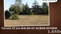 terrain ST JULIEN EN ST ALBAN
