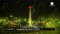 North Korea celebrates 61st anniversary of end of Korean War with fireworks