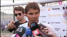 """Rafael Nadal during the 4th edition of """"Rafael Nadal Trophy"""" in Manacor, July 28, 2014"""