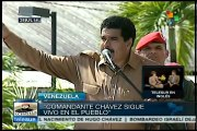 Chávez vive en las obras sociales para el pueblo, afirma Maduro
