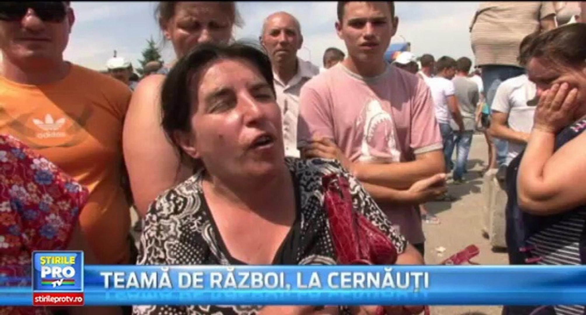 Tensiuni la granița de nord a României. Sute de oameni din Cernăuți au blocat străzile, temându-se c