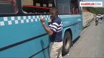 Ümraniye'de Özel Halk Otobüsü Kaza Yaptı Ümraniye'de Özel Halk Otobüsü Kaza Yaptı.