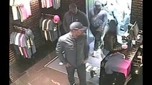 French rapper Rohff and his crew agressing sellers of Unkut Store (rapper Booba store)