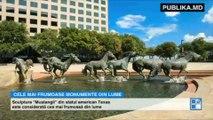 """Monumentul """"Mihai Eminescu"""" din oraşul Oneşti (România) este considerat unul dintre cele mai frumoase din lume şi ocupă locul 19 în top."""