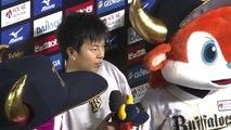 【プロ野球パ】6勝目、松葉のヒーローインタビュー 2014 07 29 Bs-L