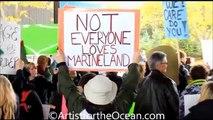 Les militants Anti  Marineland s'insurgent contre les spectacles de dauphins