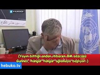 Gazze'de bulunan BM sözcüsü canlı yayında hıçkıra hıçkıra ağladı (Altyazılı)