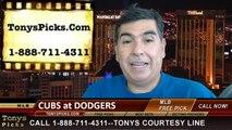 LA Dodgers vs. Chicago Cubs Pick Prediction MLB Odds Preview 8-1-2014