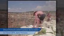 Deux Français  filmés en train de jeter un écureuil du Grand Canyon