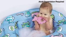 Baby:  Bath 'N Bumper - Cushioned Bath Tub - Blue Fish