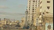 Rare Footage: An Israeli F-16 is falling rocket in Gaza City