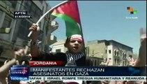 Jordanos vuelven a repudiar masacre israelí contra Gaza