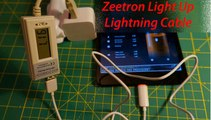 Zeetron Light Up Lightning USB Cable for iPhone 5 5S 5C iPad 4 iPad mini iPad air ipod Touch 5th Gen