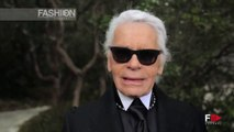 """""""Chanel"""" Karl Lagerfeld Interview HD Spring Summer 2013 Haute Couture Paris by Fashion Channel"""