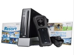 Nintendo Wii Console Black with Wii Sports and Wii Sports Re