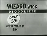 1955 WIZARD WICK AIR FRESHENER AD ~ WOULDN'T KNOW WE NEEDED IT WITHOUT AD EXECUTIVE TELLING US