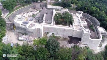 Cetatea de Scaun a Sucevei (filmare aeriană)