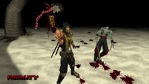 Mortal Kombat Unchained [PSP] - Scorpion's Fatalities