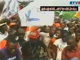 Meeting anti-révision constitutionnelle:  Des opposants avec en tête l'UDPS, l'UNC, l'ECIDé et le MPCR, à la place Sainte-Thérése, dans la commune de N'djili