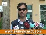 ڈی سی سوات کالام ٹوریسٹ گالاکے حوالے سے میڈیا سے گفتگو کر رہے ہیں