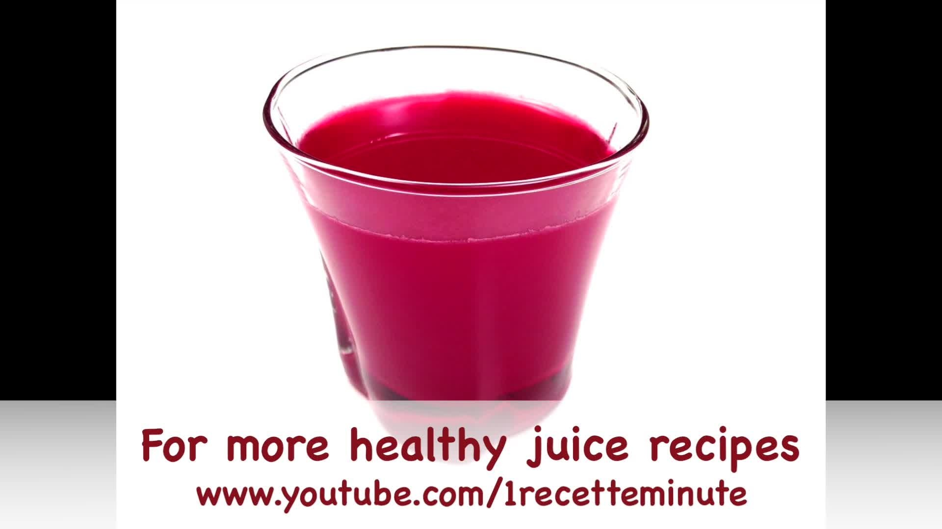 How to make a healthy apple and beet juice
