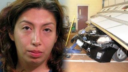 Woman Crashes into Firehouse with Stolen Python Around Neck