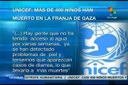 Unicef confirma muerte de más de 400 niños palestinos en Gaza
