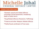 Criminal lawyer Michelle Johal provides representation for those facing criminal charges throughout Brampton and Southern Ontario. Her practice includes the defence of all criminal charges, with a particular focus on domestic assault charges, fraud, theft