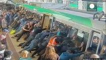 Australian commuters tilt train to free trapped man