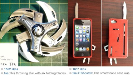 Crazy Weapons Confiscated by TSA Now on Instagram