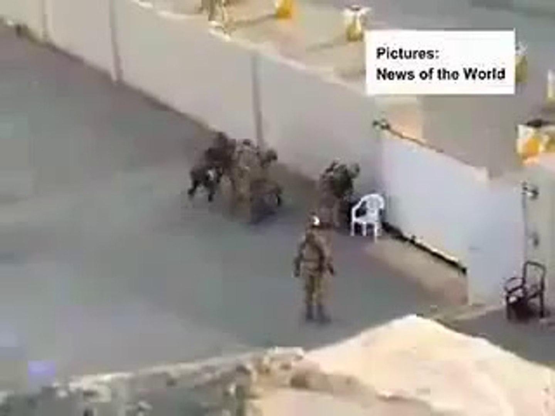 Israeli Soldiers beating palestine boys & Israeli enjoying