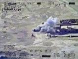 Irak : vue aérienne des bombardements contre l'Etat islamique