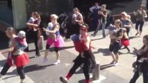 Moms Wear Babies in 'Footloose' Flashmob