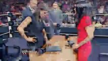 WWE RAW 8_4_14 Stephanie McMahon and Brie Bella contract signing for Summerslam 2014