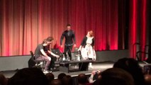 Robert Pattinson and Guy Pierce entering the stage at The Rover Screening and Q&A at BFI Southba
