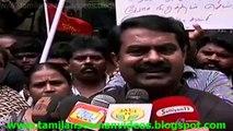 Seeman 20140809 Interview after protest against Genocide in Palestine & Eelam (Sri Lanka) V2TS