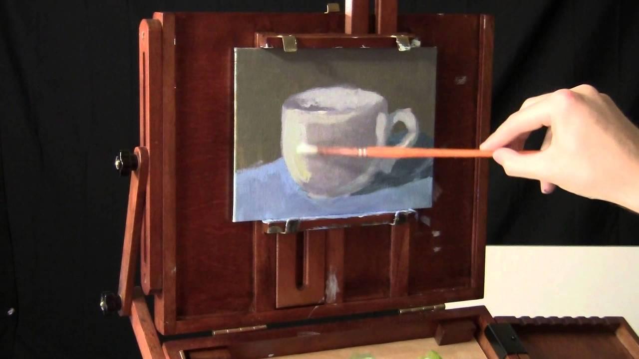 Painting A Mug – Real-Time Acrylic Painting
