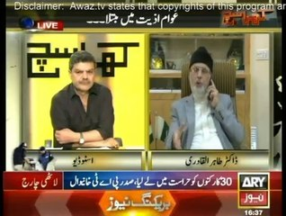 Dr Tahir-ul-Qadri's Exclusive Interview with Mubashir Lucman