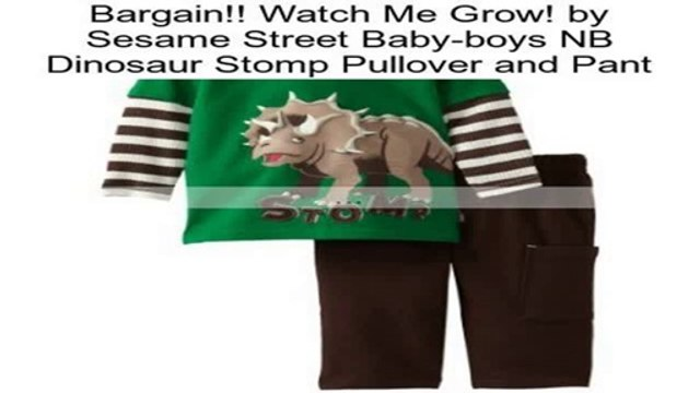 Watch Me Grow! by Sesame Street Baby-boys NB Dinosaur Stomp Pullover and Pant Review