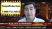 Seattle Mariners vs. Toronto Blue Jays Pick Prediction MLB Odds Preview 8-11-2014