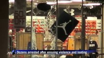 Protest, looting near St Louis after black teenager shot down