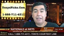 New York Mets vs. Washington Nationals Pick Prediction MLB Odds Preview 8-12-2014