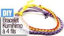 Faire un bracelet Kumihimo à 4 fils - Tuto DIY bijou