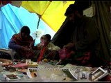 Shops selling religious trinkets, rudraksh and beads during Amarnath yatra
