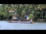 Snake boats during Champakulam snake boat race - Pamba River