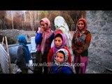 Cute village girls in Ladakh